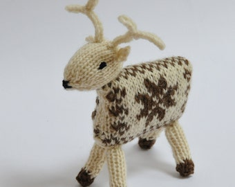 Knitting Kit - Knit your own Snow Reindeer