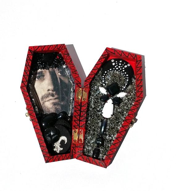 Kurt Cobain Coffin Shrine Altar Box - One of a Kind Mixed Media Art