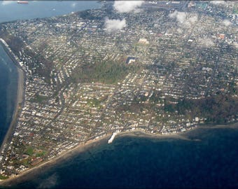 Poster, Many Sizes Available; Aerial View Of Alki Point 1