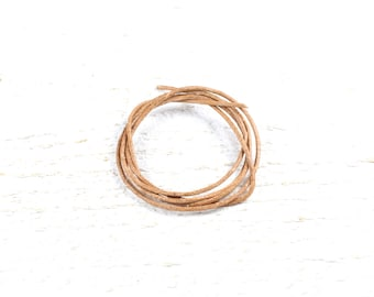 5 meters of natural leather cord approximately 1 mm