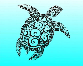 Sea Turtle svg Turtle svg files for cricut |ai Files dxf Files SVG Files, Cricut Cut Files, Silhouette Cut Files