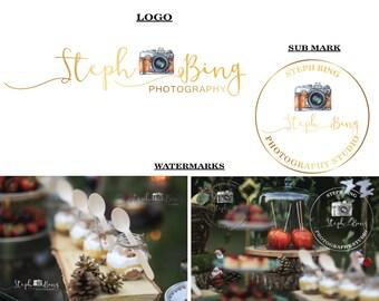 Handrwitten logo Photography logo Signature Handwritten logo watermark Premade logo Watermark Branding Kit Logo Design Branding Package