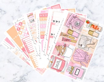 Strawberry Dreamsicle Luxe Sticker Kit (Glam Planner Stickers for Erin Condren Life Planner)