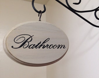 "Adorable Bathroom Sign (cream)(5x7"")"