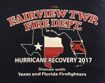 Fairview Township Fire Department Hurricane Relief T-Shirt