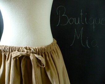 Full MINI Skirt - Corduroy with grommet and tie Detail - Pick the COLOR - Made in ANY Size - Boutique Mia