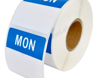 2 Rolls of Monday Day of the Week Labels (500 labels/roll, 40mmx40mm) BPA Free!