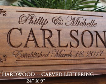 Custom wedding gift for couple-personalized engagement gift-Mr Mrs-present-plaque-marriage gift-established wedding gift sign-date sign idea