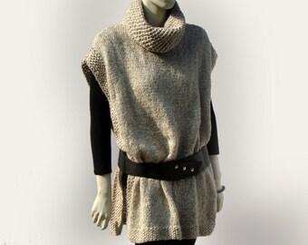 Womens Wool Poncho-Winter Poncho Wool-Wool Poncho-Knitted Poncho-Chunky Poncho-Loose Womens Poncho-Oversized Poncho-Hand Knit Poncho