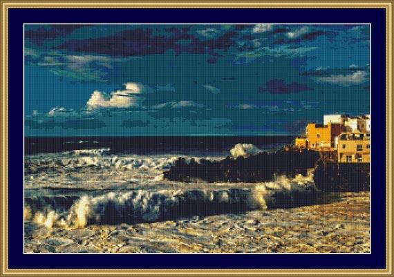 Atlantic Surf Cross Stitch Pattern - Instant Download