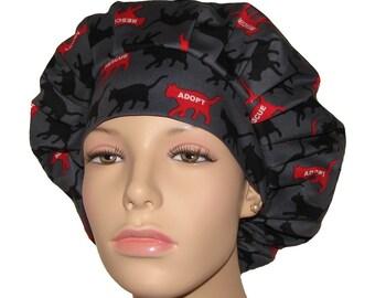 Bouffant Scrub Hats-Rescue Me Adopt A Cat-Scrub Cap-Surgical Hat For Women-ScrubHeads-Veterinarian Hat-Cats Scrub Hat-Cats Scrub Cap