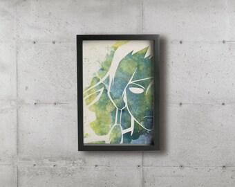 CELESTIAL KORRA poster - Inspired by The Legend of Korra series. Fine art prints.