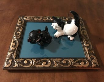 Collectible Japanese Porcelain Cat Figurines, from 1950s