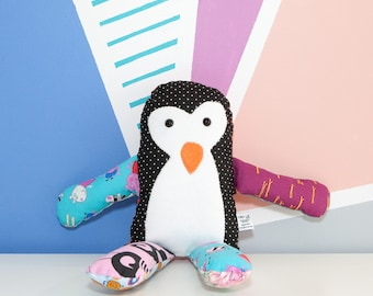 Cute stuffed animal, pinguin plushie