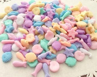 200 pcs Aquatic mix colors plastic pastel beads