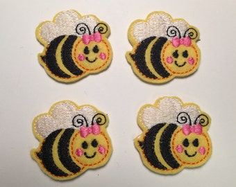 Bumble Bee Embroidered Felt Applique