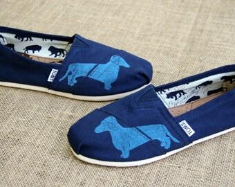 Dachshund Custom TOMS Shoes