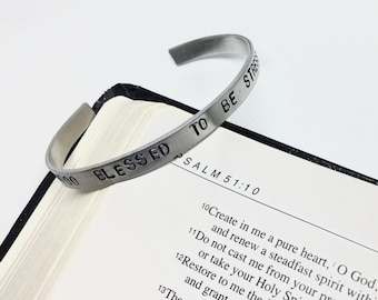 Too Blessed to be Stressed Bracelet Cuff