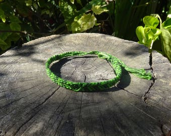 Friendship Bracelet shade of green