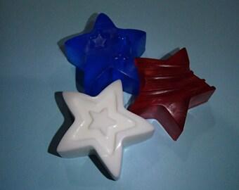 Patriotic Stars Glycerin Soap Set