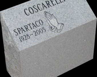 Personal cremation memorial-2 interment,  includes engraving,302 lbs granite 7 colors to choose from