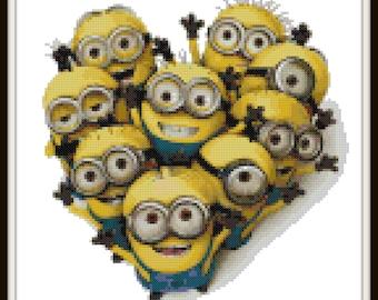 Minions Cross Stitch Pattern