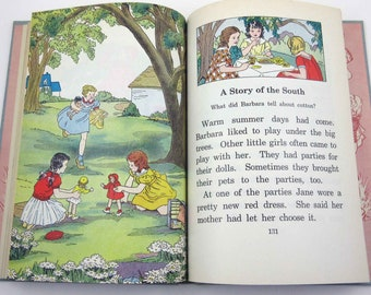 Friends About Us Vintage 1930s or 1940s Children's School Reader or Textbook by Lyons and Carnahan