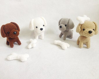 Cute Labrador puppy gang Amigurumi, nursery decor, dog amigurumi, Crochet puppy, Handmade crochet animal, decor, gift, toys