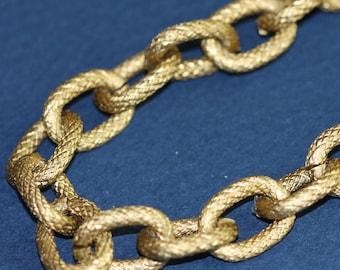 20 x 5 pieds de Large en aluminium chaîne texture câble chaîne ouvrir le lien chaîne 14X10mm - couleur or Antique