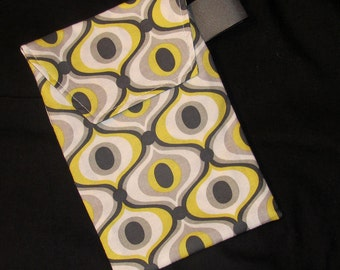 Diaper Clutch - Citron Feeling Groovy Diaper Clutch with a Pocket- Ready 2 Ship