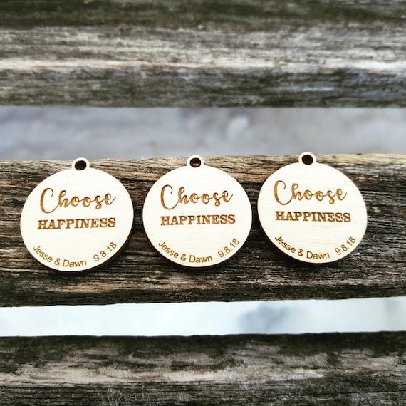 50 Wedding Favor Tags.  Custom, Laser Engraved Wood. Custom Orders Welcome.