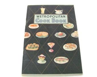 Vintage Recipe Booklet, 1950s Metropolitan Cookbook, Vintage Cookbook, Pamphlet, 1950s Recipes, Beef, Meat, Lamb
