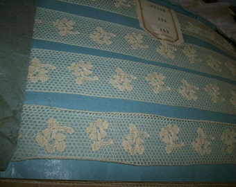 wholesale or retail vintage French butter cotton lace lovely design