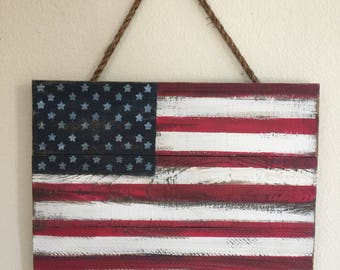 Rustic American Flag, Patriotic flag, Stars and Stripes, Americana, Red white & blue, Wood Flag, Distressed Wood, Reclaimed wood, Flag