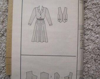 UNCUT Misses Dress and Vest - Size 12 to 16 - Butterick Pattern 5026