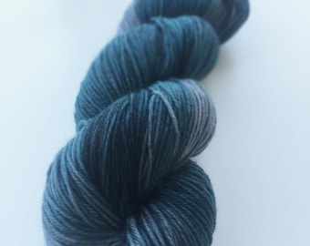 Hand dyed merino sock yarn - Thunder