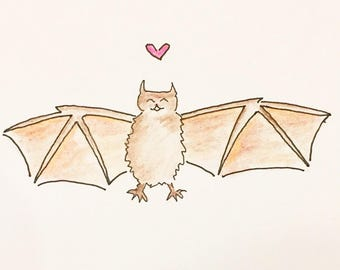 Love Bat Card