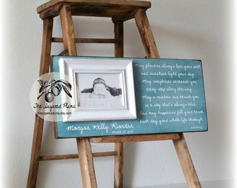 Baptism Gift, Frame, Goddaughter, Godson, Christening, Irish Blessing, May Flowers Always Line Your Path, 8x20 The Sugared Plums Frames