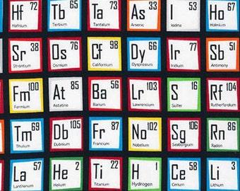 Periodic table quilt etsy robert kaufman fabric periodic table urtaz Gallery