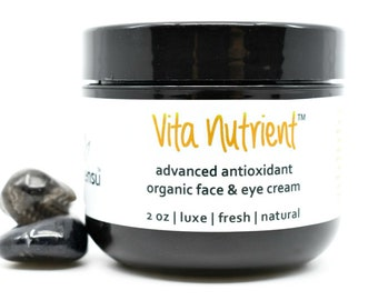 Organic Vita Nutrient™ Hyaluronic Acid Crystal Infused Advanced Antioxidant Face Cream | Environmental Protection | All Skin Types - 2 oz