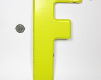 "10"" Vintage Metal Letter  F - Marquee Signage - Letter Sign - Monogram Initial"
