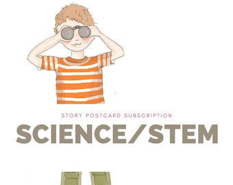Kids Subscription - Kids Mail - Story Postcard Mail - Learning - STEM for kids - Kids Science - Preschool - Kindergarten - Non Toy Gift