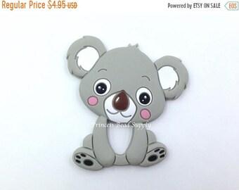 SALE Koala Silicone Teether,  Light Gray Koala Silicone Teether,  Koala Teether, Sensory Teether, Koala Silicone Pendant
