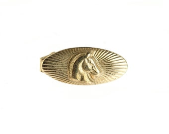 Gold Plated Horse Tie Clip