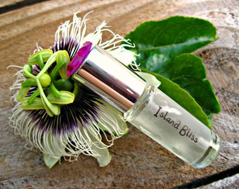 HAWAIIAN PERFUME with Passion Flower, Mango and Lychee. Mini Roll-on. Gift for Woman, Girl, Teenager.  Made in Hawaii. 1/6 fl oz (5 ml).