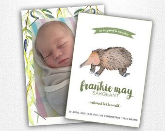 Little Australian Wildlife Birth Announcement