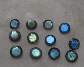 5 pieces 6mm Labradorite Round Faceted Gemstone, Labradorite Faceted Round Gemstone, Faceted Gemstone Labradorite 6mm Round Brilliant Cut
