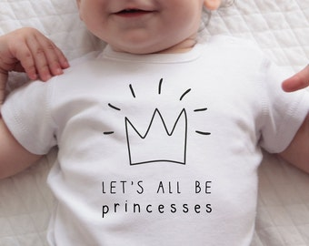 Sale, Princess Birthday Bodysuit, Princess Baby Shower Gift, Coming Home Outfit, Baby Girl Clothes, 1st Birthday Outfit, First Birthday