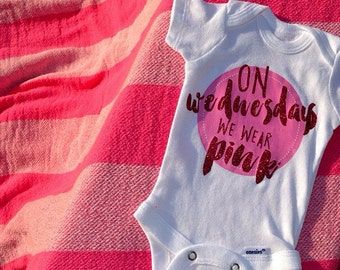 Mean Girls Outfit | On Wednesdays We Wear Pink T Shirt or Infant Bodysuit