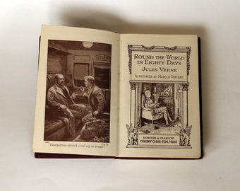 Round the World in Eighty Days by Jules Verne - c1920's